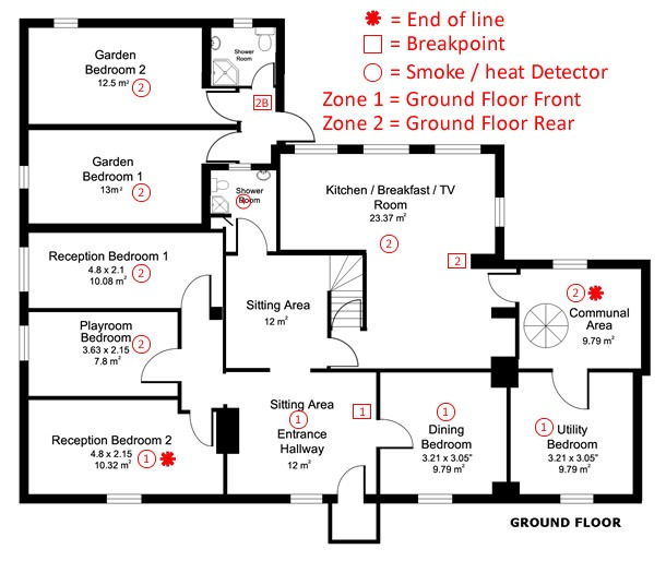 Fire Alarm Map Little Yews