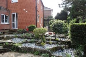 The Rear Garden Facing the House